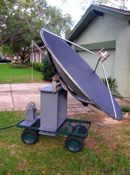 AMATEUR RADIO TELESCOPE. The portable six-foot (1.8 meter) solid aluminum ...